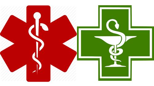 Εφημερέυοντα Φαρμακεία, Νοσοκομεία